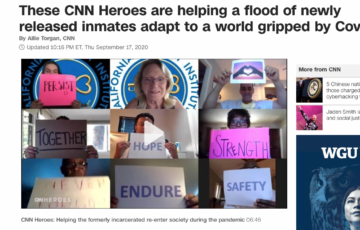 CNN Heroes–Time For Change Foundation Helping Released Inmates Adapt to Covid-19
