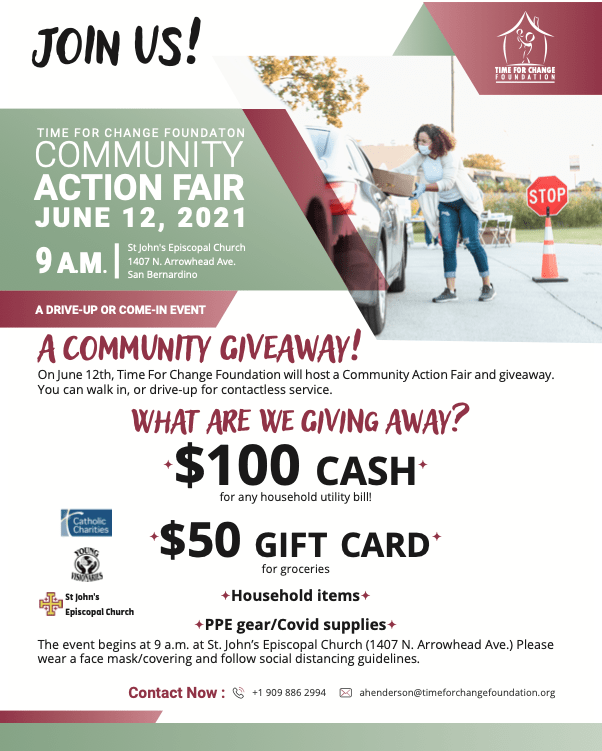 time for change foundation community action fair 2021